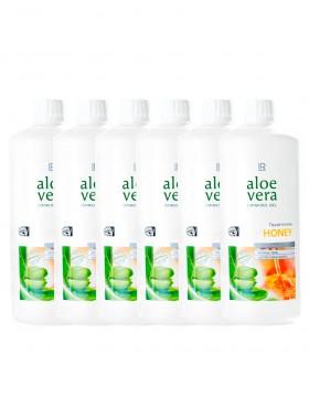 Aloe Vera Drinking Gel Honig, Sixpack