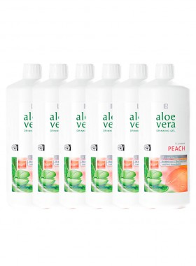 Aloe Vera Drinking Gel Peach, Sixpack