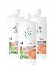 Aloe Vera Drinking Gel Peach 3er-Pack