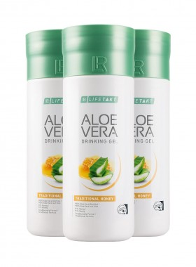 Aloe Vera Drinking Gel Traditionell mit Honig 3er Set