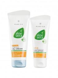 Aloe Vera Sonnenschutz-Set für leicht vorgebräunte Haut